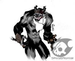 Freakin' Werewolf Demon by SpitfirePirate