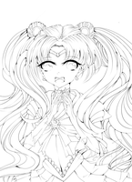 Sailor Moon lineart by SuMeeeeeer