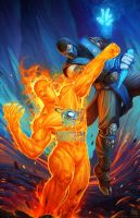 A Song of Fire and Ice: Subzero vs Cinder by KNIGHTPREDATOR