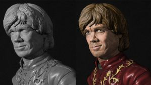 Tyrion Lannister statue w/ digital paint comp by seankylestudios