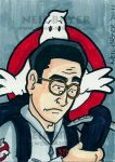 Ghostbusters Sketch Card Egon by WombatOne