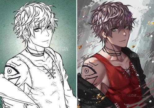 Saeran/Unknown - Mystic Messenger by Laovaan