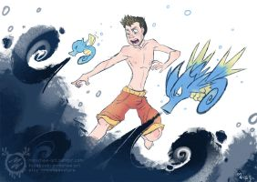 Justin's Water Pokemon - Horsea and Seadra