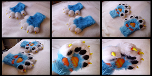 Stripy Monster Handpaws by CuriousCreatures