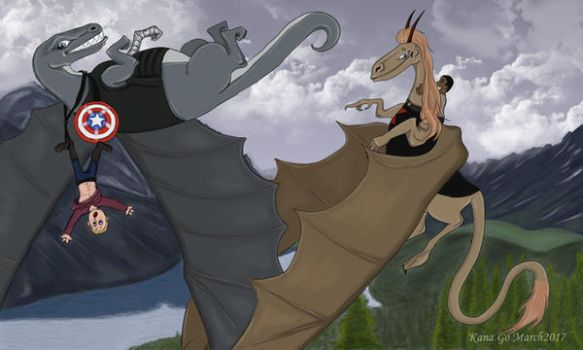 Dragons and Riders by KanaGo