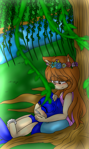 Underneath The Willow Tree .:CE:. by Feline-girl-2000