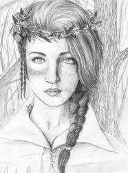 Faun Girl with Flower Crown by MsAlayniousCreations