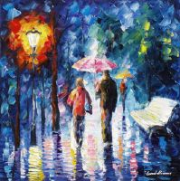From The Rain by Leonid Afremov by Leonidafremov