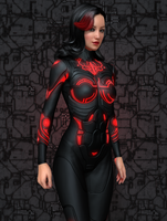 Ambie - Red Suit by silverhammer