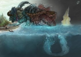 Water Colossus by Zhiibe