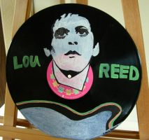 Lou Reed Painted on a Vinyl LP by modastrid