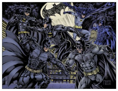 Batman Battle finished color by AntonioMastria