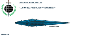 Union Kunai Class Light Cruiser by EmperorMyric