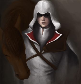 Ezio Auditore- Assassins Creed by Cazandra