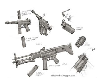 Gov't Weapon Concepts by MikeDoscher