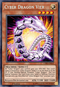 Cyber Dragon Vier by Rayquaza-dot