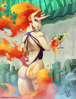 R is for Rapidash by ZwitterKitsune