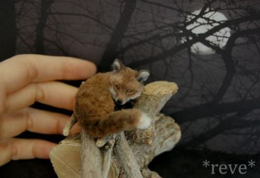 Miniature Red Fox * Handmade Sculpture * by ReveMiniatures