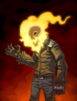 Ghost Rider color by redeve