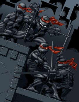 Frostdusk's TMNT in shadow... by avisciciulli
