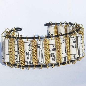 Guitar String Bracelet Brass and Music by Tanith-Rohe