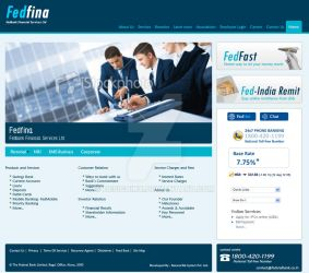 web template made for FEDFINA by designikx