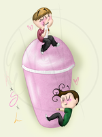 Kendall, Logan, and a Smoothie by kaitlinxing