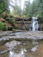 Silver Falls North Fall by Alonewithmyself