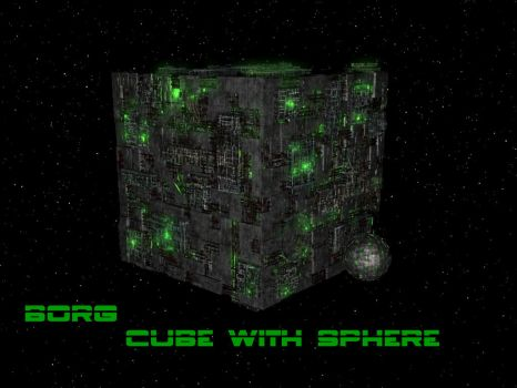 Cube with sphere by Commander-Zero