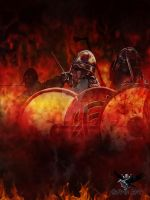 Vikings flames by thecasperart