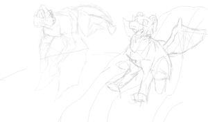Between the Raindrops WIP by MelodicDragon