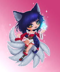 ~Fanart~ Ahri by Socially4wkwardPanda
