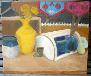 Still Life Oil Painting -4- by SeltzerAddict
