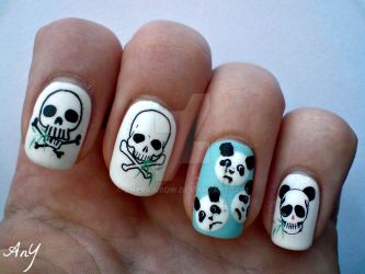 Dead Panda Nail Design 2 by AnyRainbow