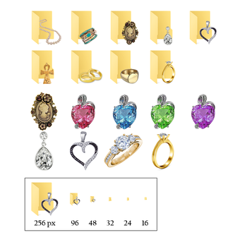 Jewelry Icons for Windows 10 by JeremyMallin