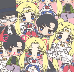 sailor moon stickers! by aoibonn