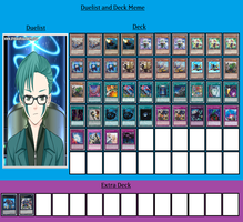 Duelist and Deck - Xzavier Forhan by MarioFanProductions