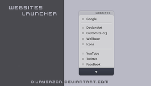 Websites launcher by DijaySazon
