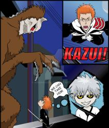 Bleach: Kazui vs His First Hollow by khamarupa