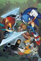 Sonic the Hedgehog 238 Cover by herms85