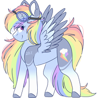 Rainbow dash redesign by EpochAii