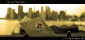 I Love NY Skyline by r4mbler