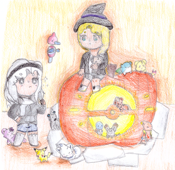 [collab] a time for stabbing pumpkins by Sparmii