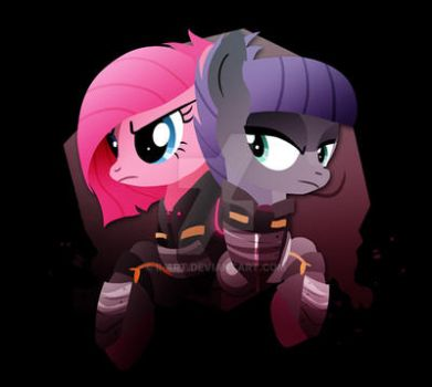 Warrior Pinkie Pie and Maud Pie by Ilona-the-Sinister