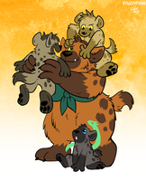 [Commission] Gnarla And Cubs by raizy