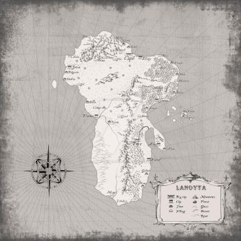 Fantasy map Lanoyta by SalesWorlds