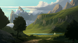 Landscape Sketch by HazPainting