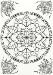 Mandala Coloring Page by LorraineKelly