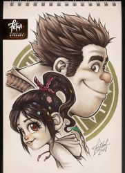 COPIC sketch 84 RALPH_VANELLOPE by FranciscoETCHART