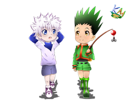 Killua and Gon chibi by KimuChin